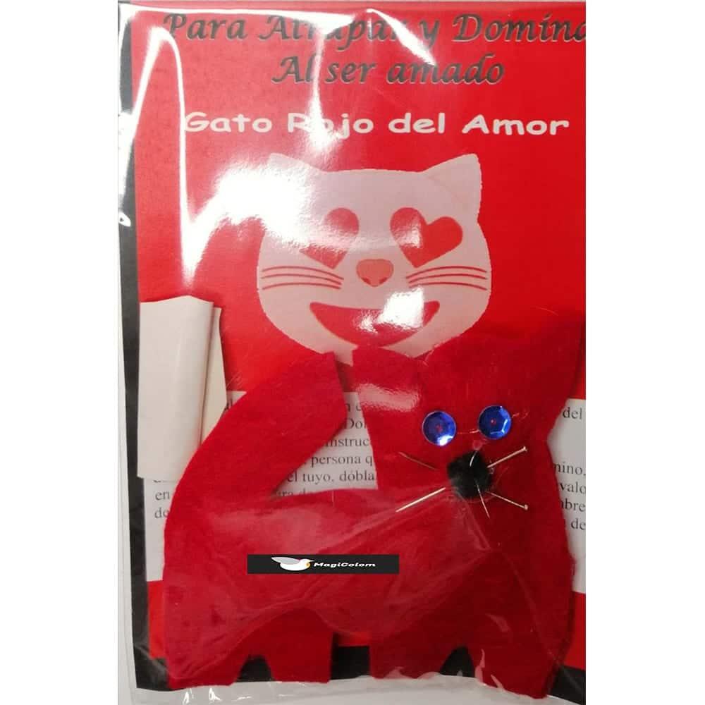 Amuleto mágico Fetiche Gato Rojo