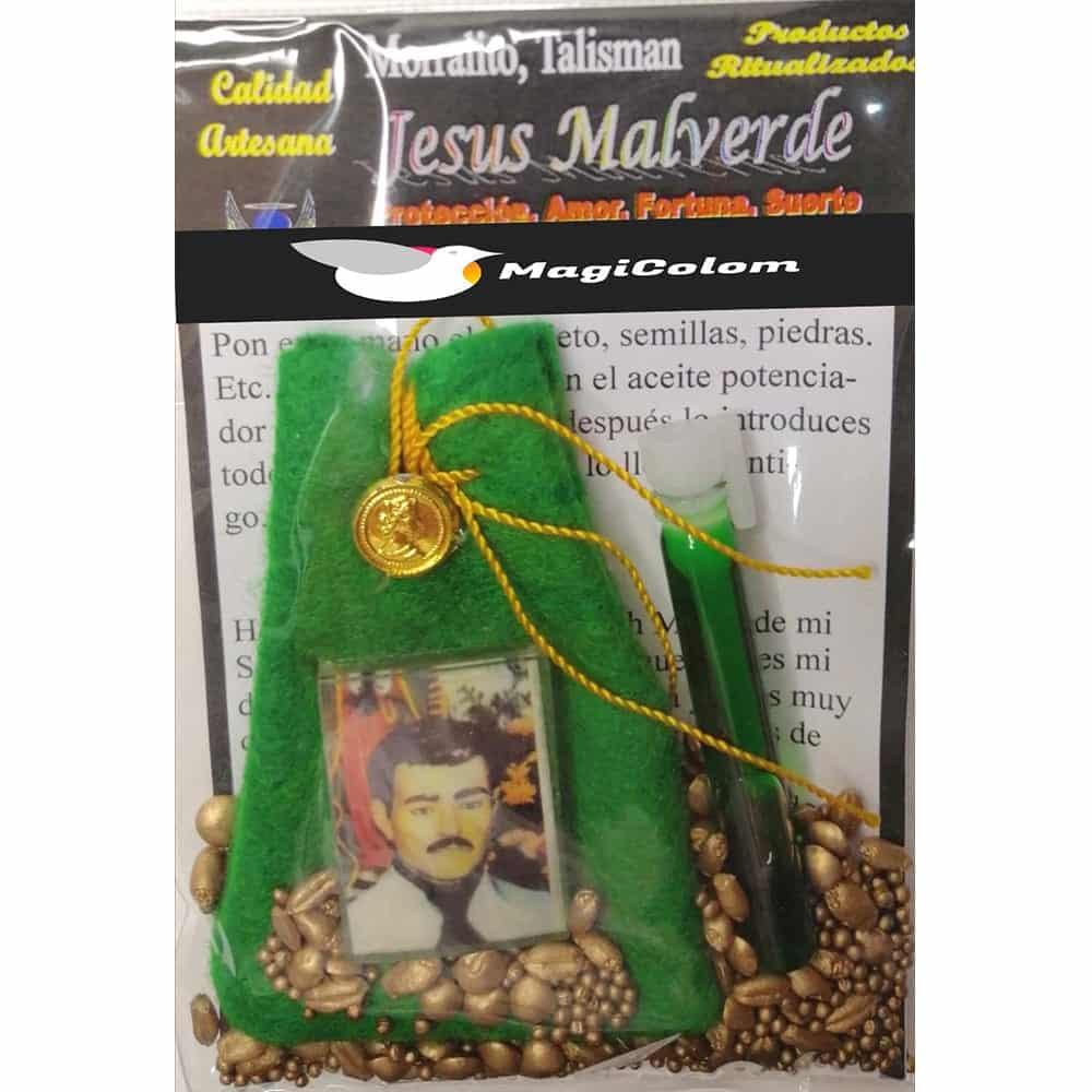 Amuleto Morralito Jesús Malverde
