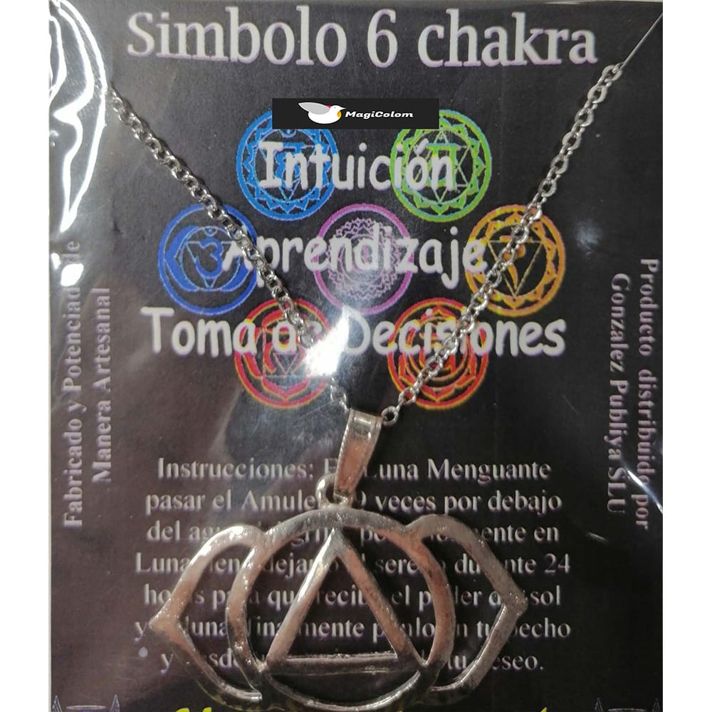 Símbolo de Metal Plateado del Sexto Chakra