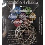 Símbolo de Metal Plateado del Cuarto Chakra