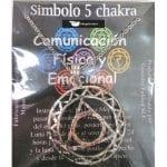 Símbolo de Metal Plateado del Quinto Chakra