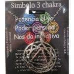 Símbolo de Metal Plateado del Tercer Chakra