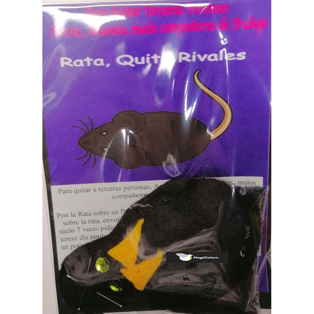 Amuleto mágico Fetiche Rata Negra