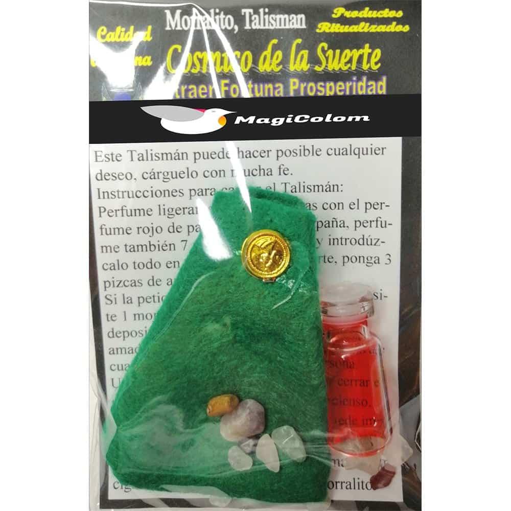 Amuleto Morralito Cósmico de la Suerte