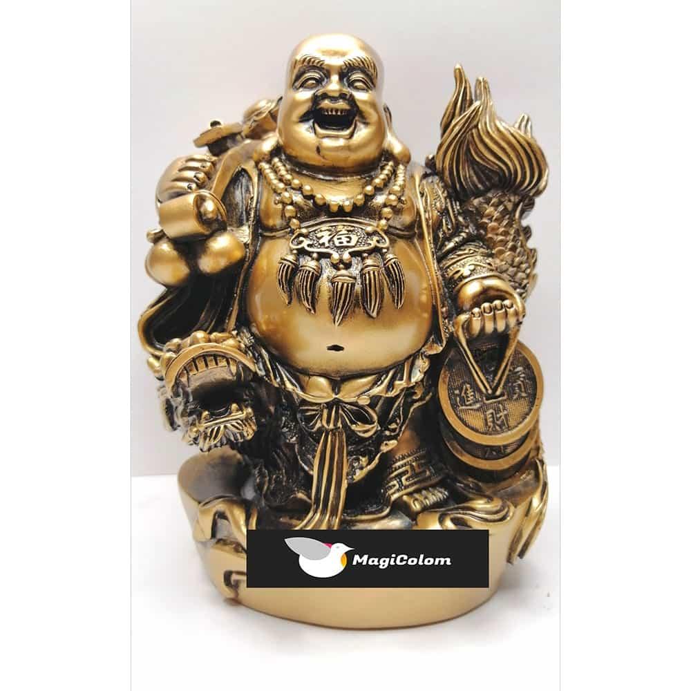 Buda Resina con Dragón