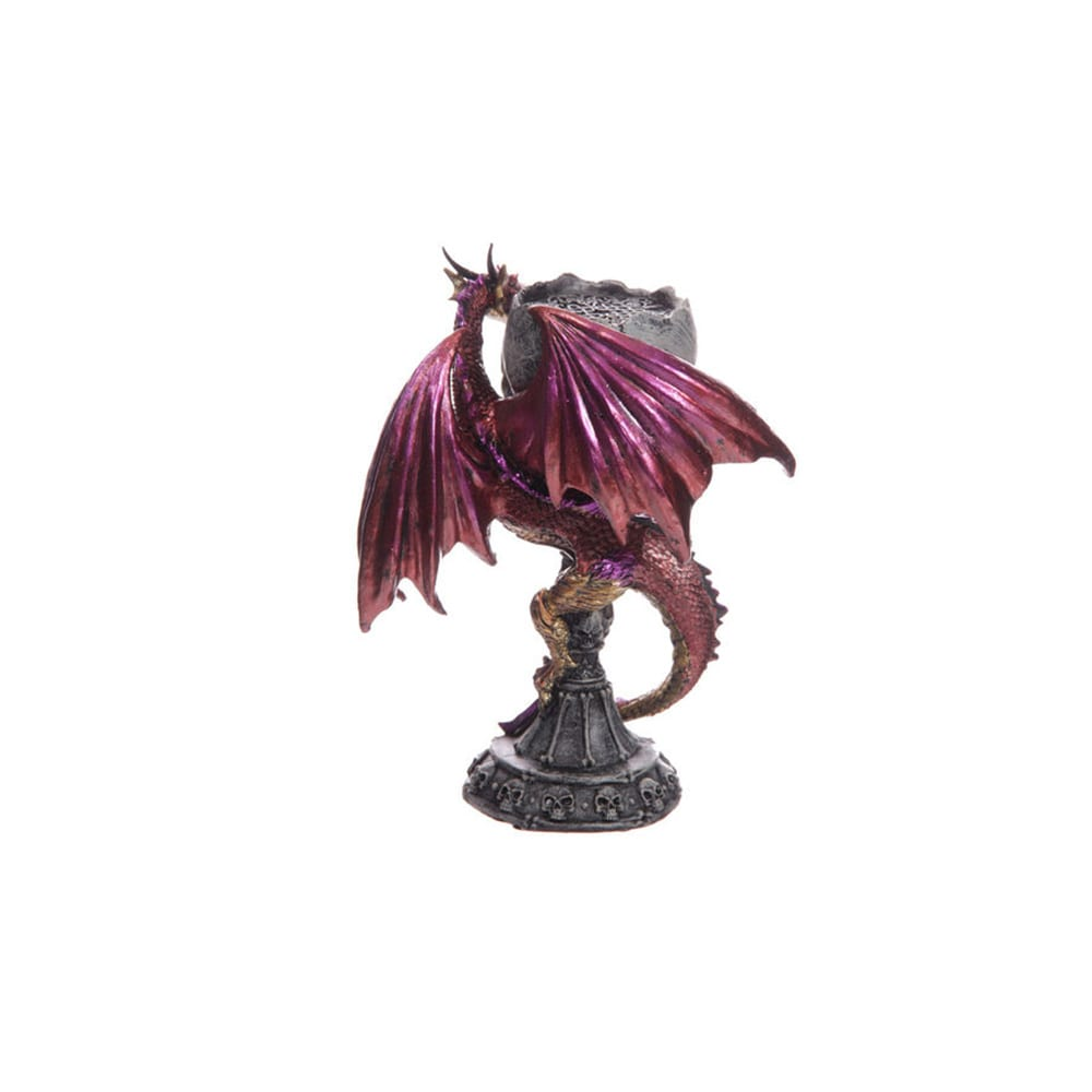 Cáliz Portavela dragón lila rojizo