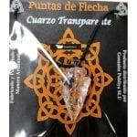 Colgante Punta de Flecha de Cuarzo Cristal con cordón