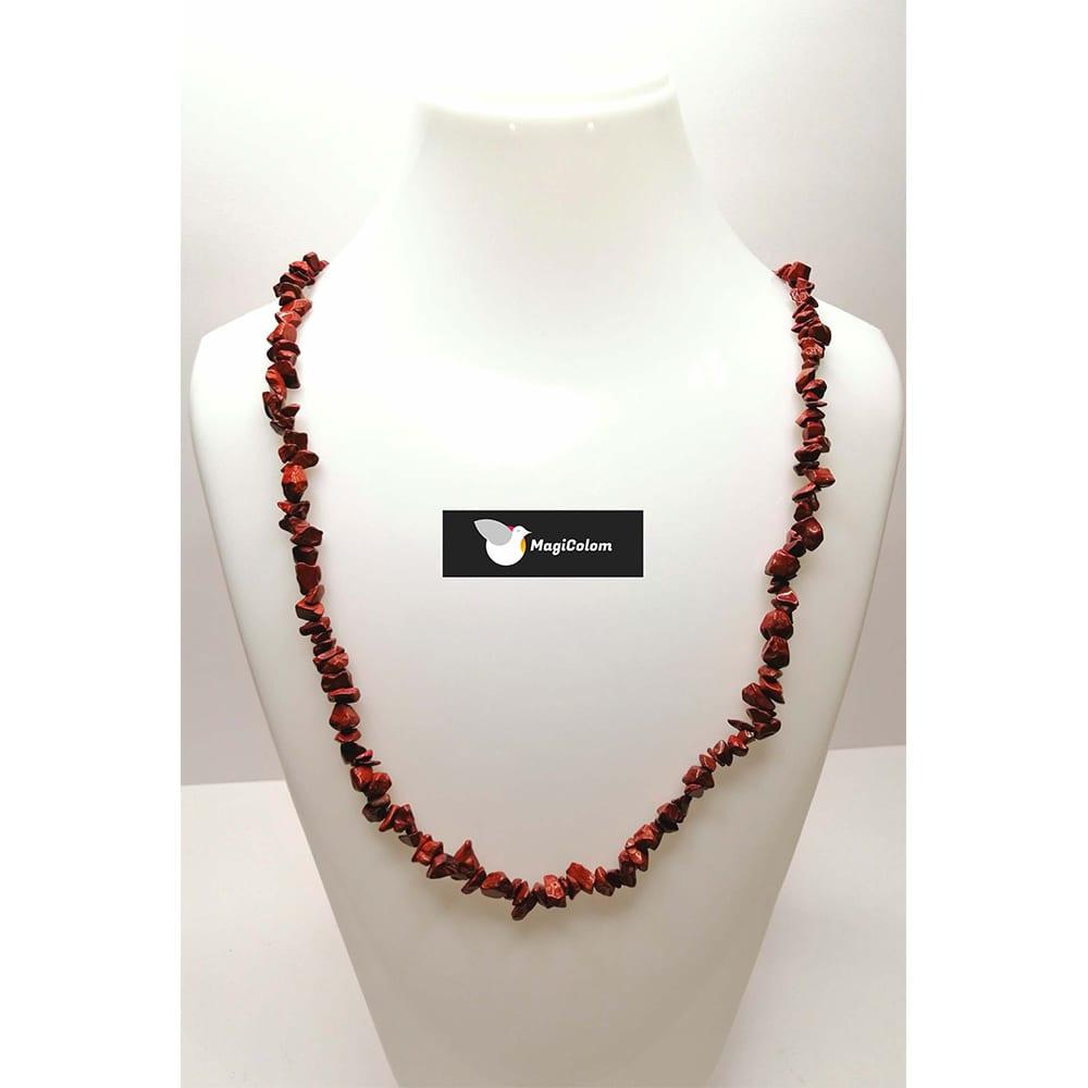 Collar Mineral chip Jaspe Rojo