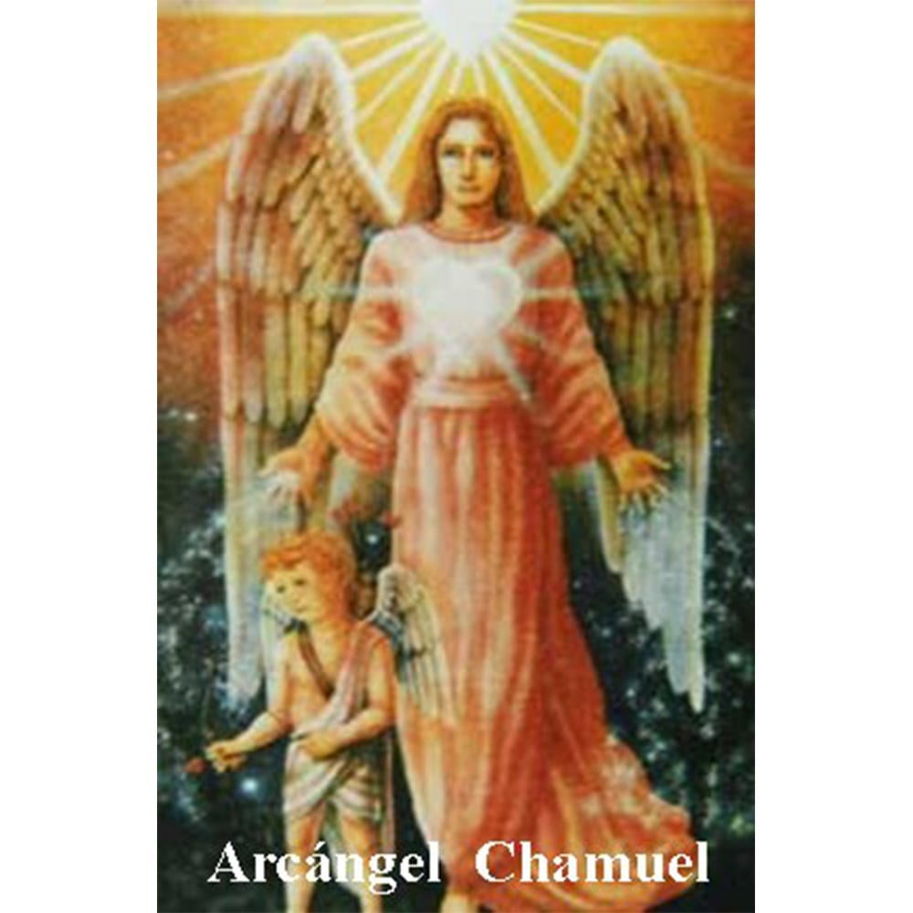 Estampa Plastificada Arcángel Chamuel