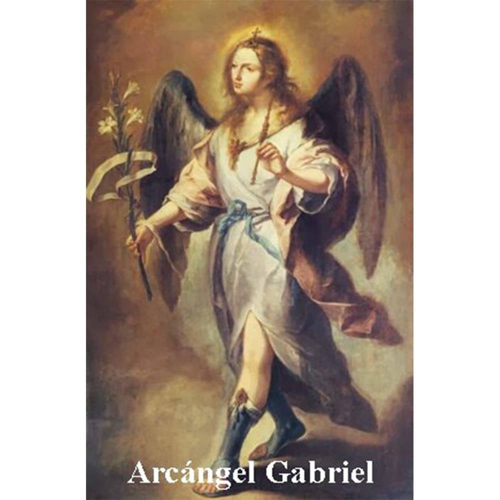 Estampa Plastificada Arcángel Gabriel