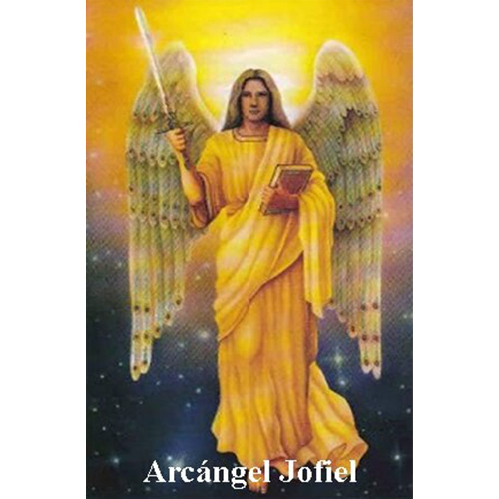 Estampa Plastificada Arcángel Jofiel