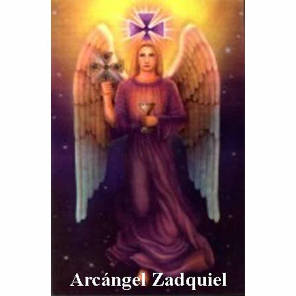 Estampa Plastificada Arcángel Zadquiel