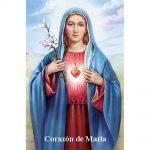 Estampa plastificada Corazón de María