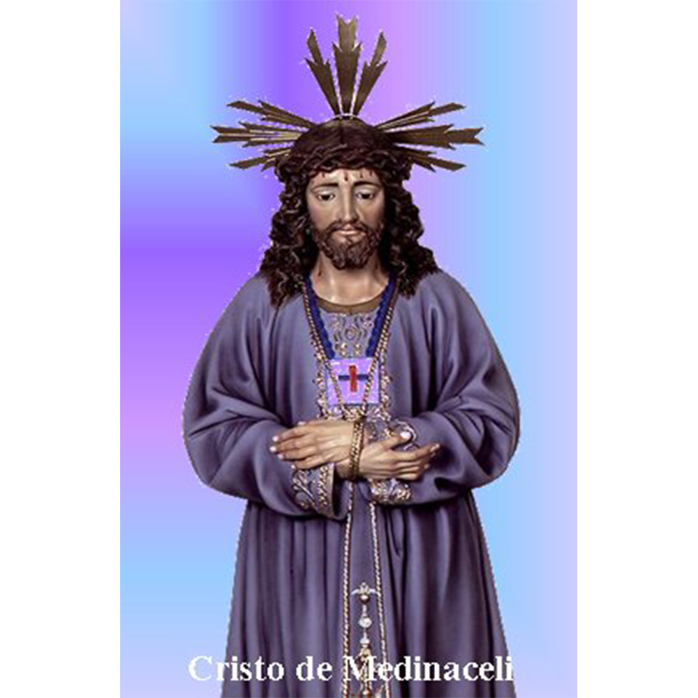 Estampa plastificada Cristo de Medinaceli