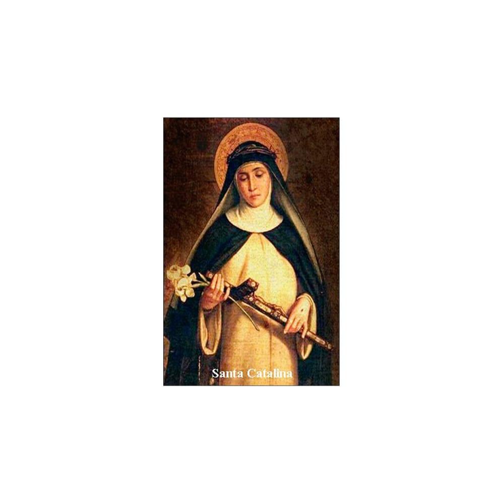 Estampa Plastificada de Santa Catalina de Siena