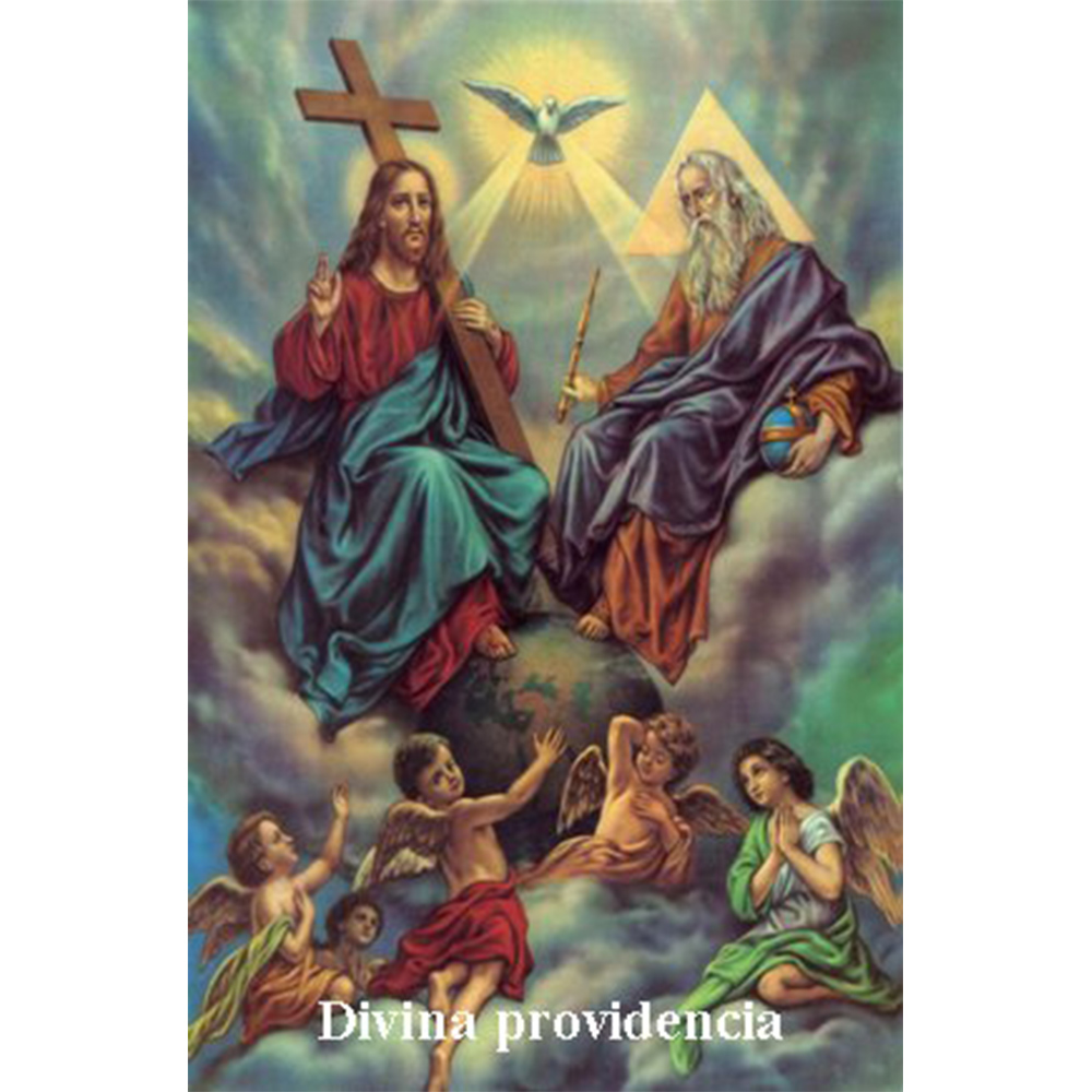 Estampa plastificada Divina Providencia