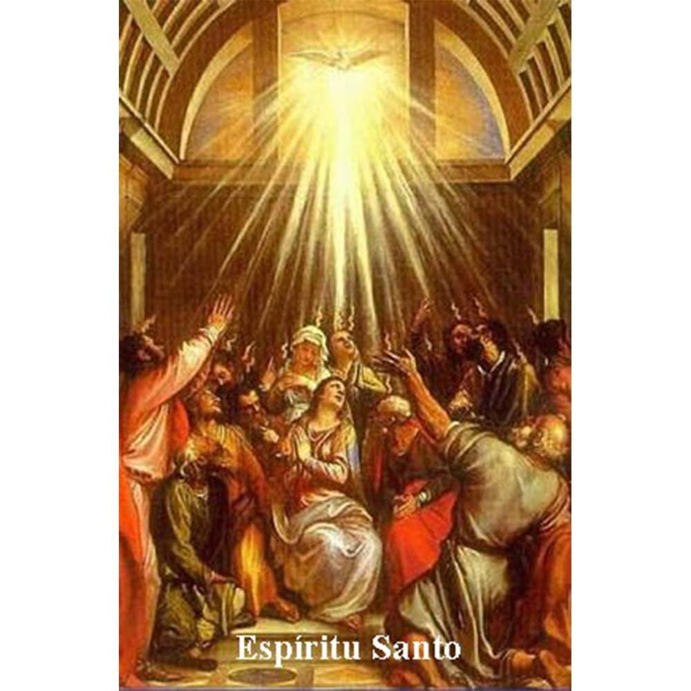 Estampa Plastificada Espíritu Santo