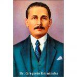 Estampa Plastificada Gregorio Hernández