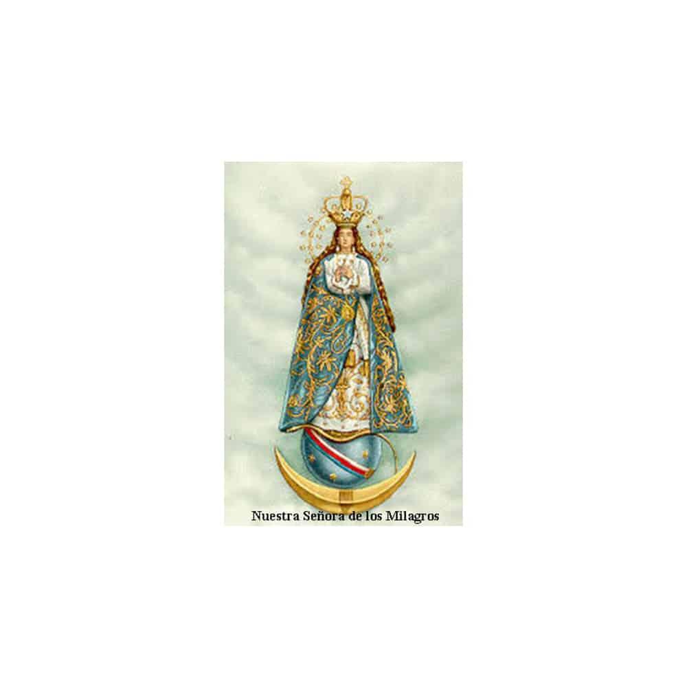 Estampa Plastificada Nuestra Señora de los Milagros