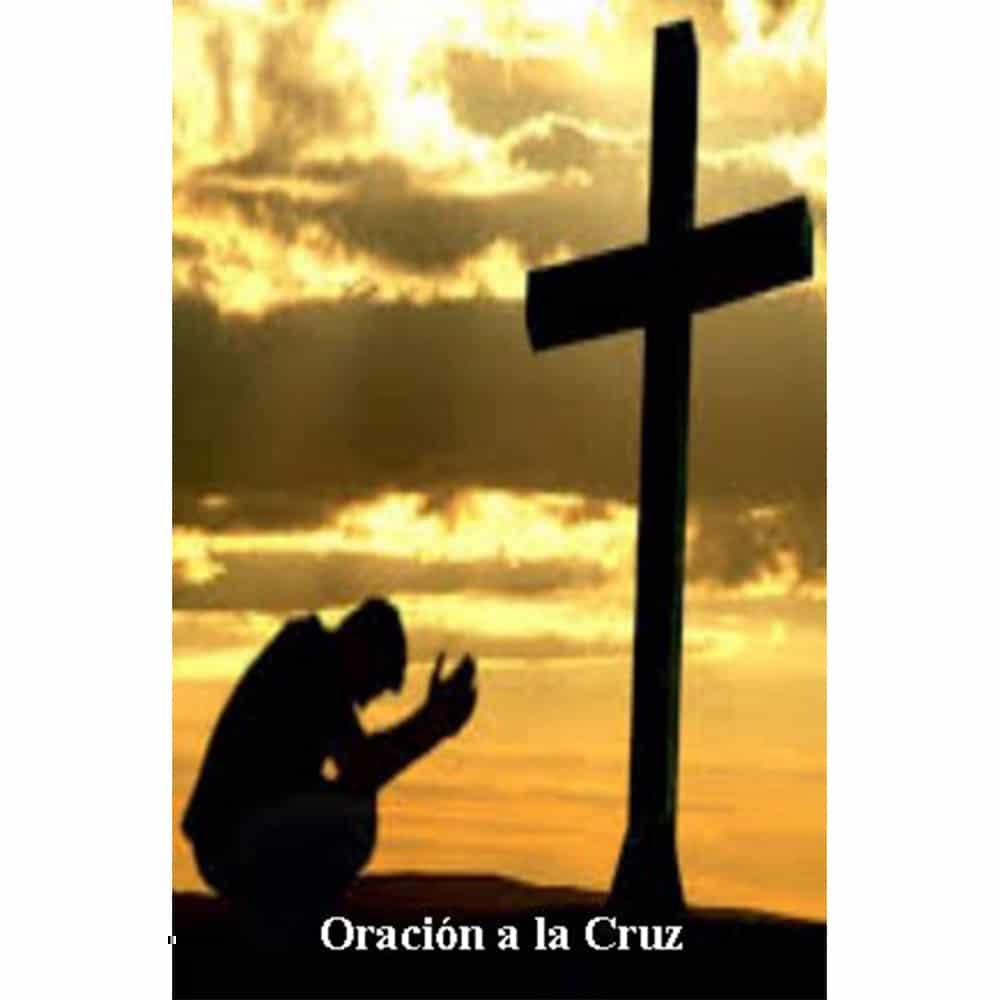 Estampa Plastificada Oración a la Cruz