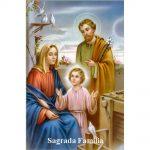 Estampa Plastificada Sagrada Familia