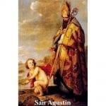 Estampa Plastificada San Agustín