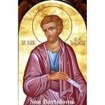 Estampa Plastificada San Bartolomé