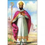 Estampa Plastificada San Cipriano