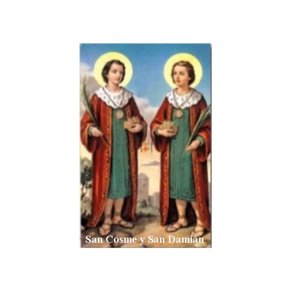 Estampa Plastificada San Cosme y San Damián