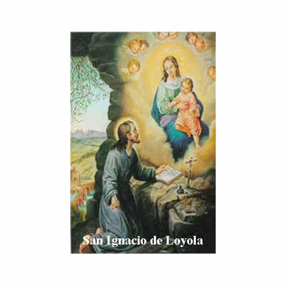Estampa Plastificada San Ignacio de Loyola