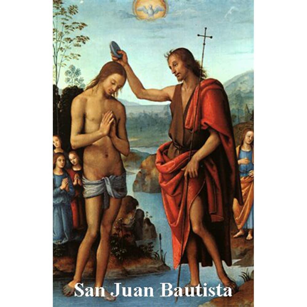 Estampa Plastificada San Juan Bautista