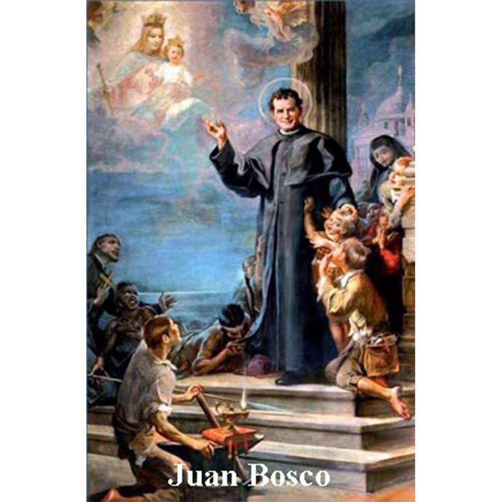 Estampa Plastificada San Juan Bosco