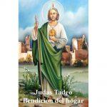 Estampa Plastificada San Judas Tadeo Bendición del hogar