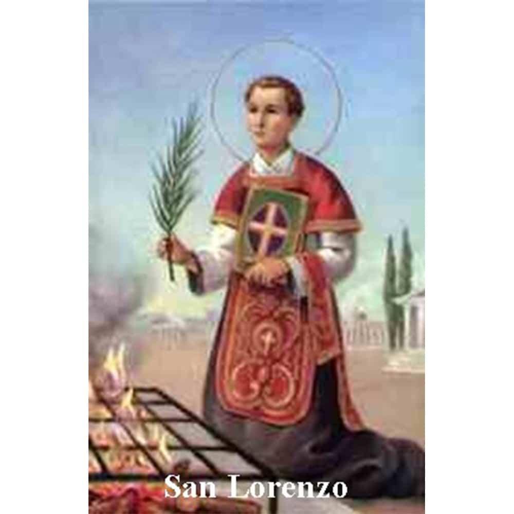 Estampa Plastificada San Lorenzo
