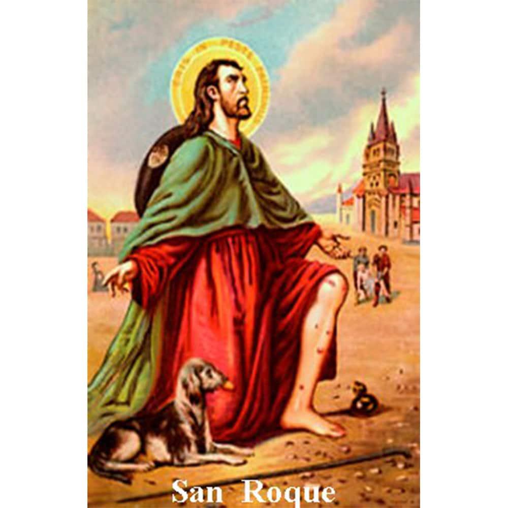 Estampa Plastificada San Roque