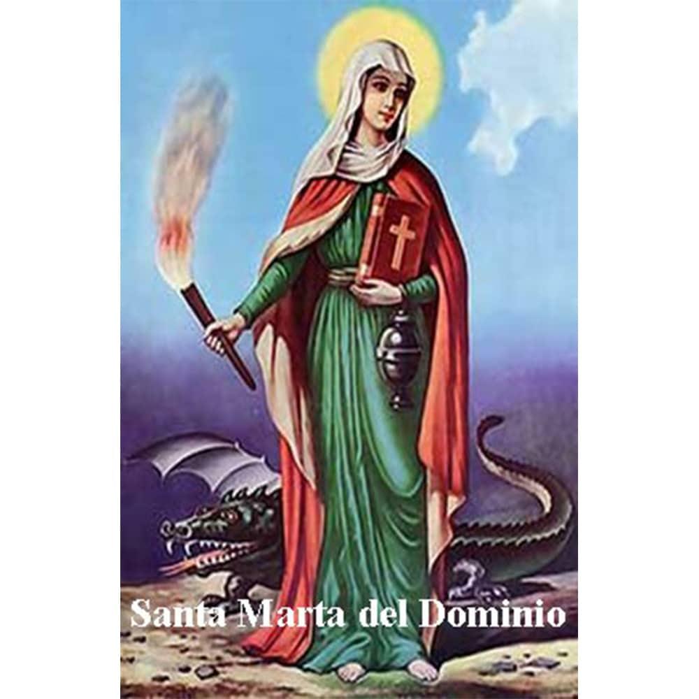 Estampa Plastificada Santa Marta del dominio