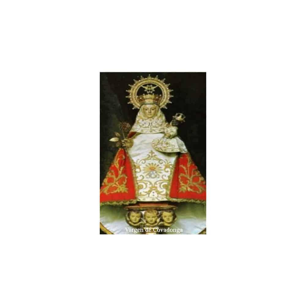 Estampa Plastificada Virgen de Covadonga