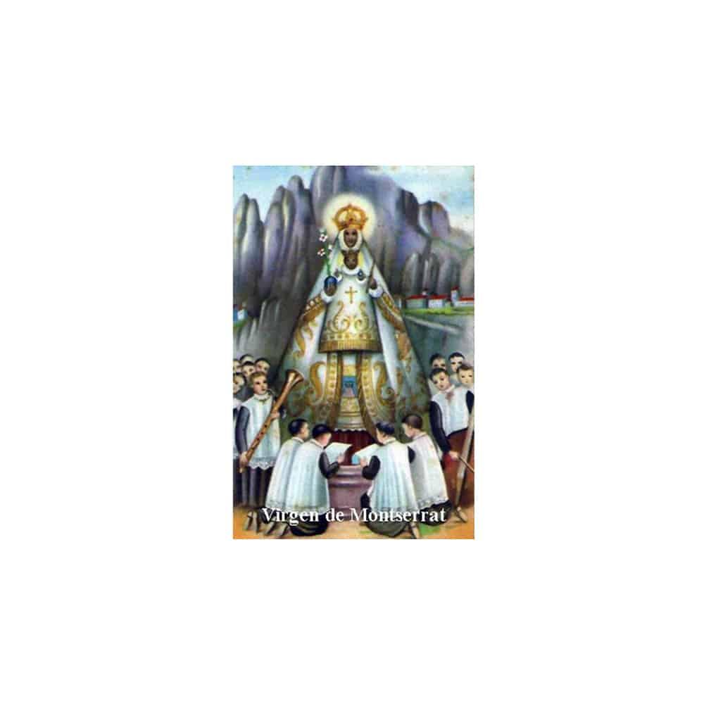 Estampa Plastificada Virgen de Montserrat