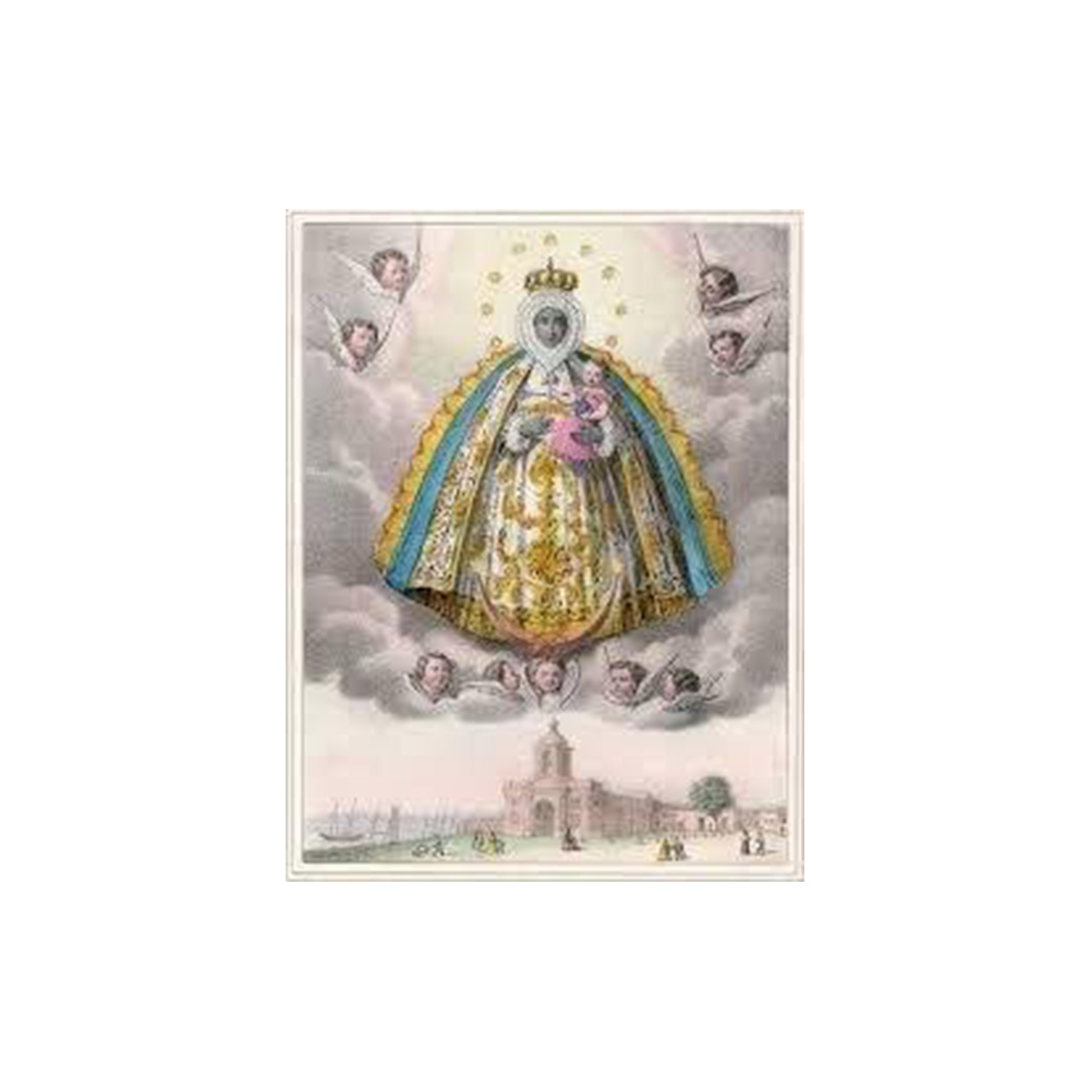 Estampa Plastificada Virgen de Regla