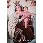 Estampa Plastificada Virgen del Carmen