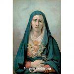 Estampa Plastificada Virgen Dolorosa