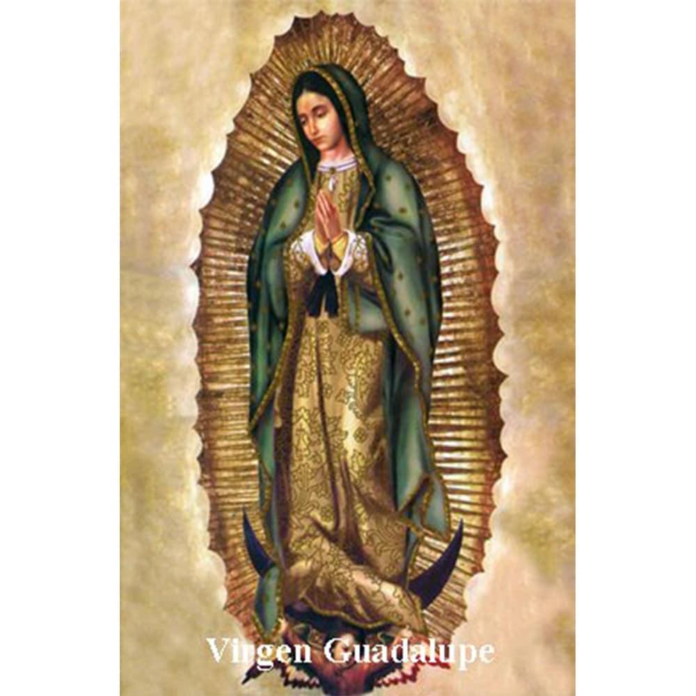 Estampa Plastificada Virgen Guadalupe