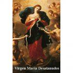 Estampa Plastificada Virgen María Desatanudos