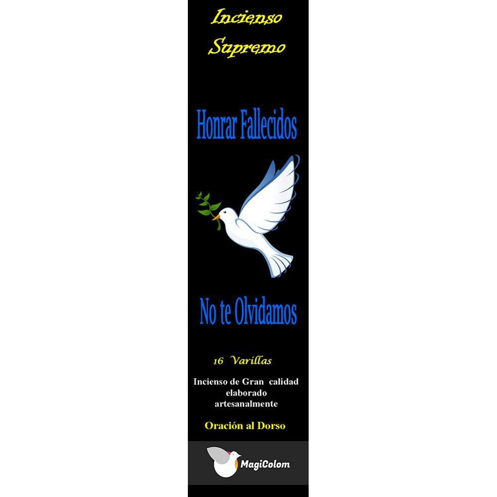 Incienso esotérico para honrar fallecidos con oración