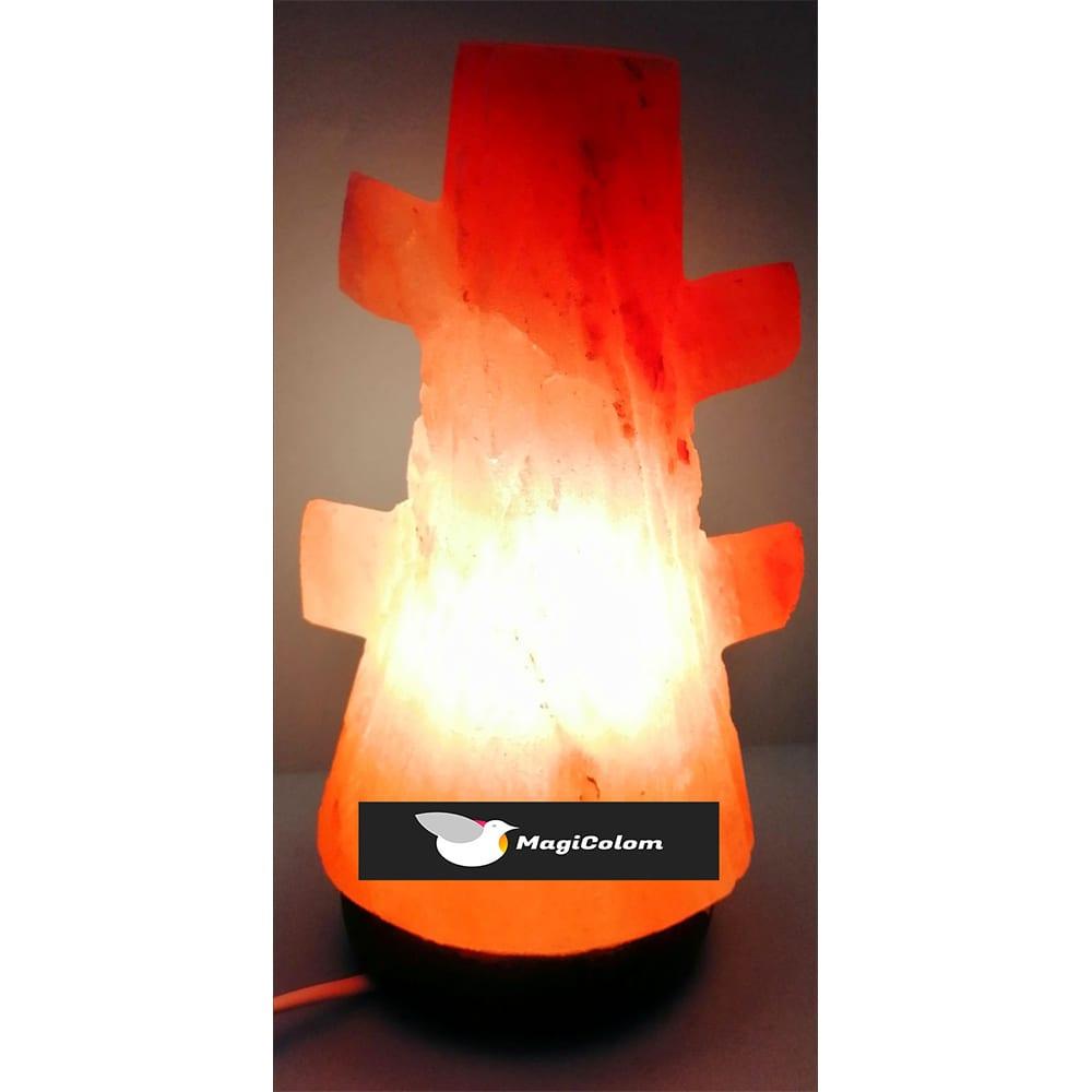 Lámpara artesanal de sal forma árbol grande