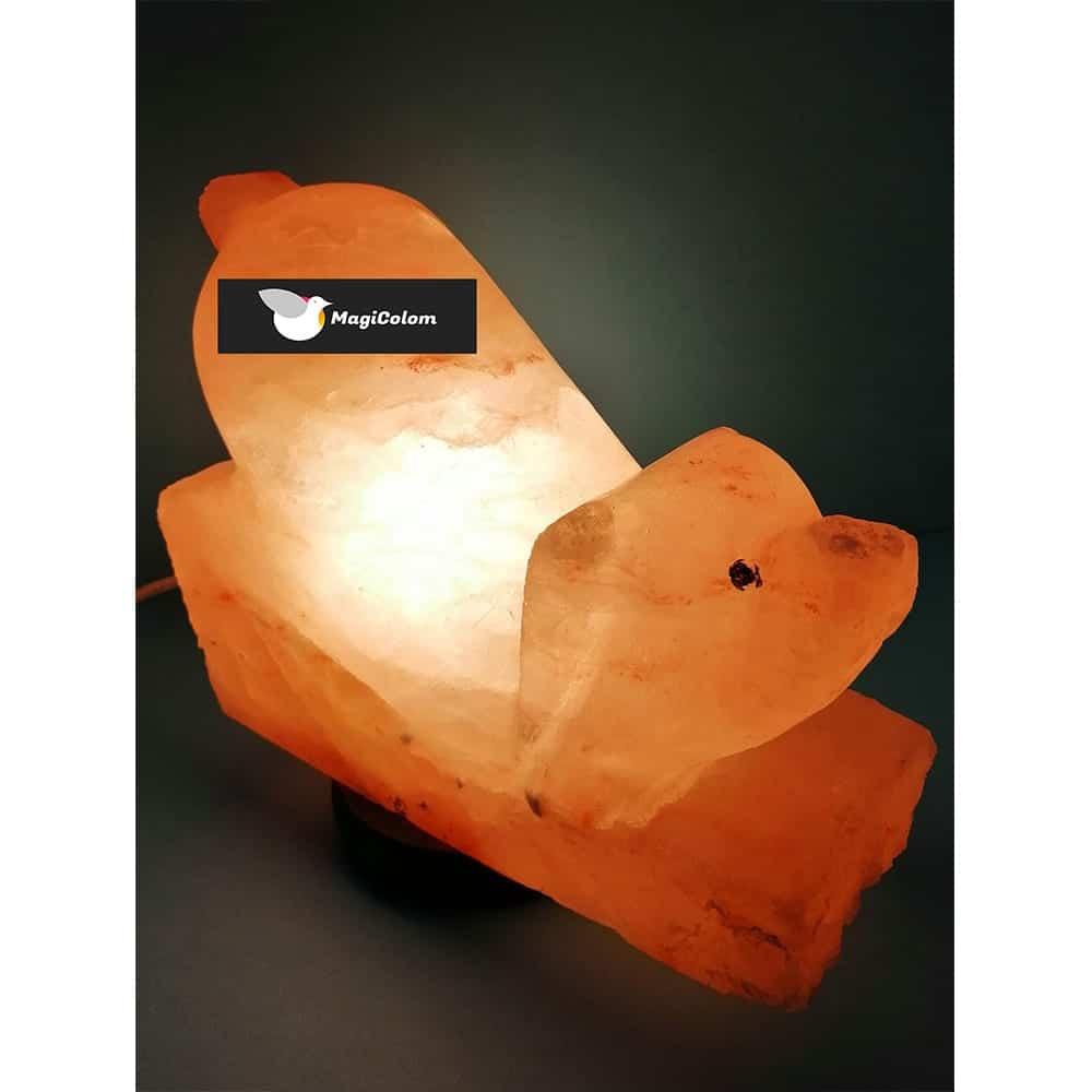 Lámpara Artesanal de Sal Perro