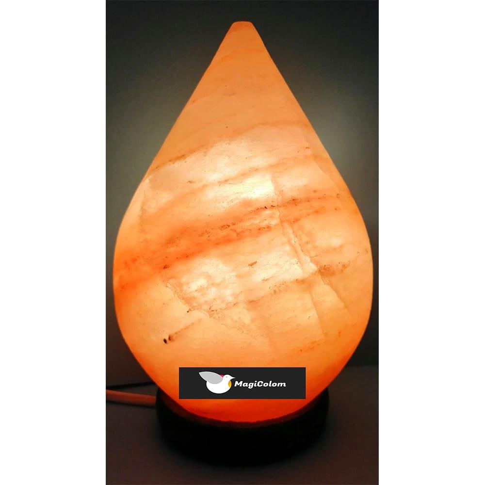Lámpara artesanal de sal forma gota