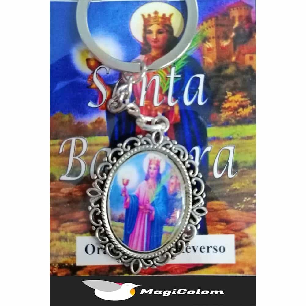 Llavero Esmaltado Santa Bárbara