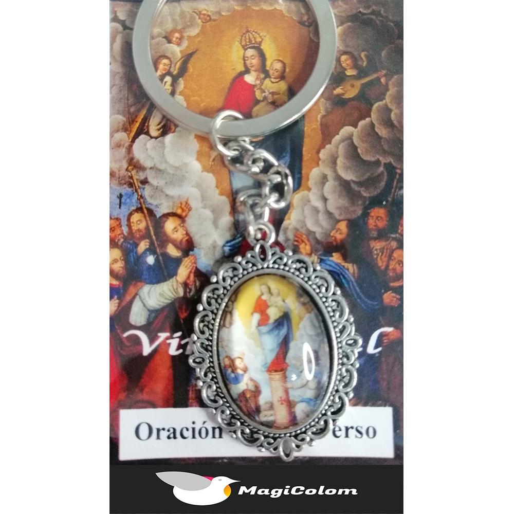 Llavero Esmaltado Virgen del Pilar