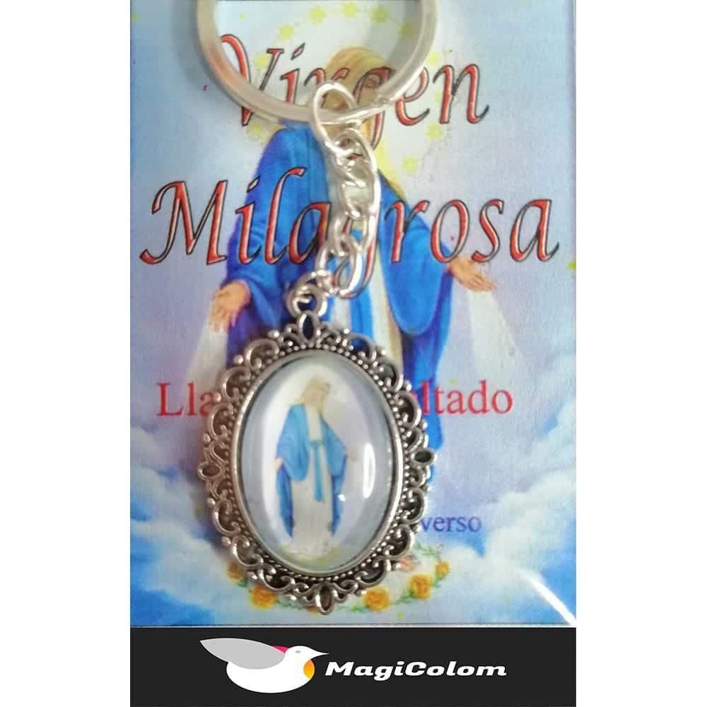 Llavero Esmaltado Virgen Milagrosa